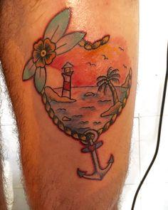 Traditional Tattoo ocean