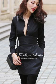 Cheap women fashion shirt, Buy Quality women shirts directly from China sexy women shirts Suppliers: Le Palais Vintage 2017 Winter New Elegant Classic All Match Black Slim Long Sleeve Fashion Peter Pan Collar Sexy Women Shirt Sexy Outfits, Fashion Outfits, Fashionable Outfits, High Collar Shirts, Le Palais, Workout Shirts, Slim, Shirt Outfit, Shirt Style