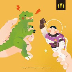 Mcdonald's on Behance Space Illustration, People Illustration, Cartoon Painting, Alondra, Drawing S, Illustrations Posters, Character Design, Animation, Behance