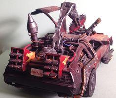Custom Back to the Future Warhammer 40K Delorean Ork Time Machine Trukk! Awesome!