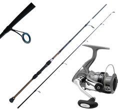 Canna pesca Spinning Mangiaze12/30 lb Mulinello Daiwa 3000