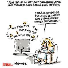 Service Public : France Télévision bientôt classé X - Dessin du jour - Urtikan.net