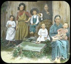 """Mountain Family""- Elmer L. Foote Lantern Slide Collection, ca. 1900-1915 (Lexington Public Library)"