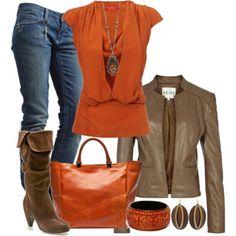 My Outfits I don't like orange