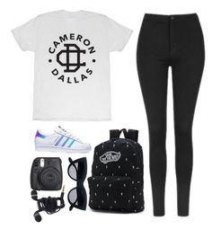 """""""11:48 """" by feel-like-infinity ❤ liked on Polyvore featuring Topshop, adidas, Vans and afother"""