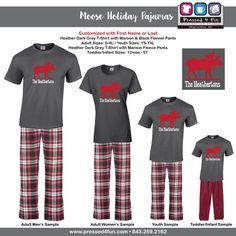 holiday pajamas youth loungewear moose design christmas pajamas youth bottoms family matching pajamas best selling item