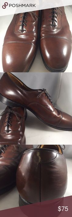 Johnston & Murphy Mens Shoes 16 Brown Leather Johnston & Murphy Mens Shoes Size 16  Optima Melton Cap Toe  Brown Leather Oxford  SPO81770815099001-SH1 Johnston & Murphy Shoes Oxfords & Derbys