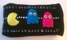 Pacman  Felt Android/Iphone Cover. $20.00, via Etsy.