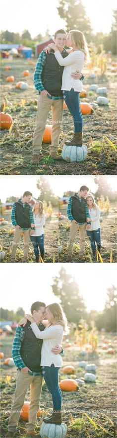 Couple Fall Pictures, Pumpkin Patch, Oregon Wedding Photographer, Nicole Briann Photography