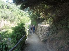 Hiking the Cinque Terre Trail from Monterosso to Vernazza. It's challenging but well worth the effort.