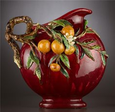 I like the colors and three-dimensionality of this antique Majolica pitcher