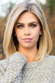 Mid-length Straight Blonde Full Lace Human Hair Wig 12 Inches - - Source by Hair Wigs Medium Hair Styles, Short Hair Styles, Medium Straight Hairstyles, Long Bob Hairstyles, Haircut Medium, Blonde Hairstyles, Cute Medium Haircuts, Middle Part Hairstyles, Hairstyles Videos