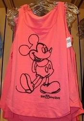 Mickey Classic Pose Outline Walt Disney World Ladies Tank Top - Pink (Adult) - Disney Shopping at The Laughing Place Store