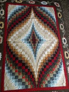 Lovely #Quilting on this #bargello #quilt