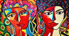 """Dina Garcia – """"As Cores da Bahia"""" por Edmundo Cavalcanti   Site Obras de Arte"""