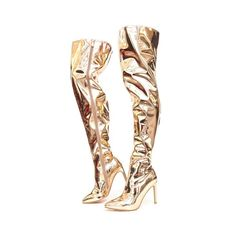 71326b9f960b Cape Robbin Womens Pointy Thigh High Boot Rose Gold -- Details can be found  by clicking on the image.