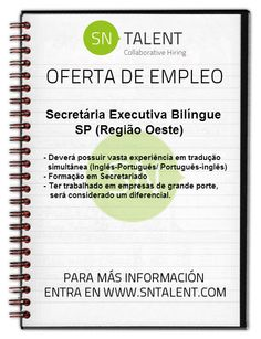 #Secretária #Executiva Bilíngue in #SP