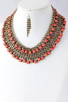 """Amanda"" Coral Necklace from shopbelina.com"