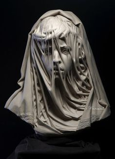 Child Bride • Philippe Faraut • Sculpture • 2014 • Faraut spends his artistic life doing highly detailed sculptures of all ages, races, and genders. This one was the one that struck me the most though. I've always loved the way that veiled sculptures look and this one is particularly powerful due to the subject matter •