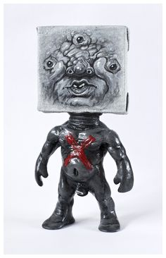 Johnny Paint me Motherfucker customized by Emilio Subirá (unique art piece) Poliurethane resin 17cms tall toy sculpture. Hand painted and barnish by the artist at his studio in Seville, Spain. Is one of a kind. signed and dated.