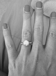 the perfect simple, classic engagement ring!
