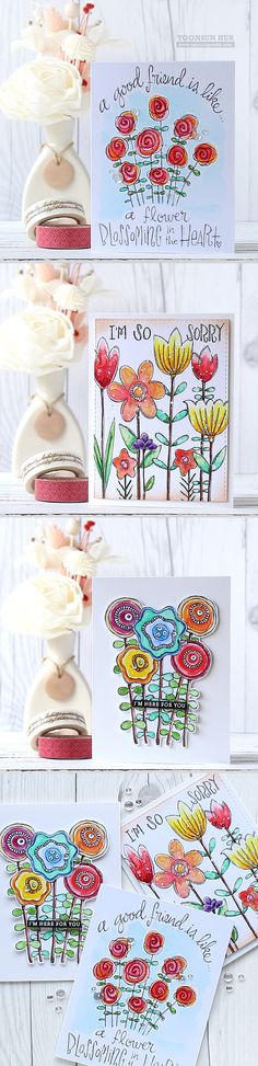 RejoicingCrafts: Watercolour floral cards with Simon Says Stamp Suzy's…