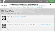 App.net, la alternativa a Twitter de pago, cuenta con 20.000 usuarios tras un mes desde su lanzamiento  http://www.genbeta.com/p/71372