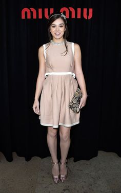 Hailee Steinfeld attends the Miu Miu show as part of the Paris Fashion Week Womenswear Spring Summer 2015 on October 1, 2014 in Paris, France.