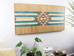 Arte de pared de madera - madera de la pared arte - cabecero de madera - madera arte - madera de la pared arte colgante - arte madera moderno - Boho madera - madera de la pared decoración