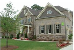 19 Trendy House Exterior Brick And Stone Front Elevation Exterior Color Combinations, Exterior Color Schemes, Exterior House Colors, Exterior Design, Stone Exterior, Exterior Houses, Grey Brick Houses, Brick Projects, House Projects