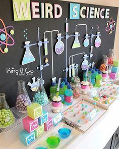 Love this science party setup! Cake Pops, Cake Pop, Cakepops