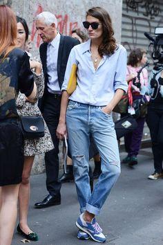 Cinq façons de porter le jean: tomboy, salopette rétro, total look... - L'Express Styles