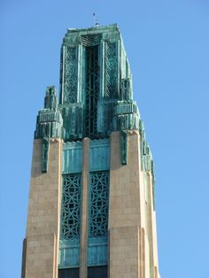 Bullock's Wilshire Department Store copper-topped tower, Los Angeles