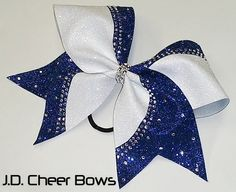 Reagan Rhinestone/Glitter Cheer Bow your choice of colors