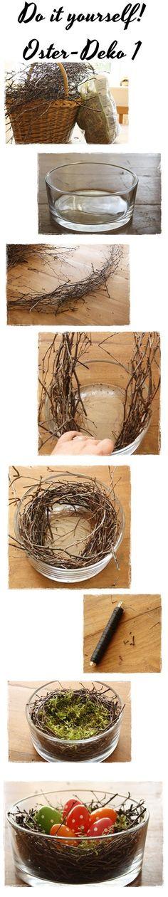 Osterdekoration aus Zweigen schnell und einfach selbstgemacht #diy #Ostern (Easter Diy Decorations)