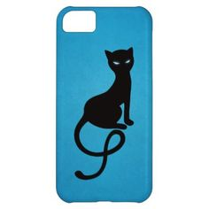 Blue Gracious Evil Black Cat Cover For iPhone 5C $42.95 #iphone5c #iphonecase #iphone #halloween