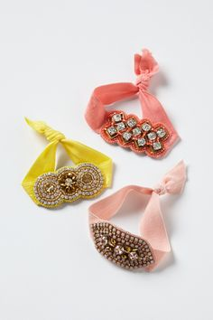 Crystalline Hair Ties - Anthropologie.com
