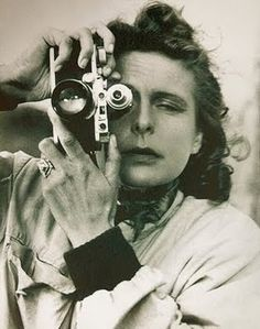 Leni Riefenstahl, Selfportrait with Leica camera, 1939