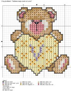 alfabeto degli orsetti col cuore: V