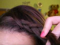How To: French twist and French Braid Your Bangs - YouTube