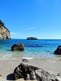 Beautiful water and snorkelling at Alonaki Beach - A Week in Rural Greece