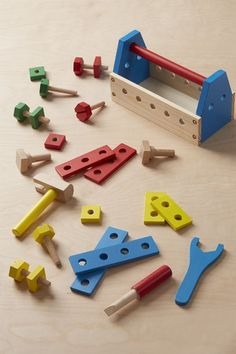 Give little builders the tools they need for truly constructive play with this Take-Along Tool Kit, made out of wood! Melissa & Doug, Tool Kit, Projects For Kids, Baby Toys, Wooden Toys, Baby Blue, Woodworking, Tools, Christmas Ideas