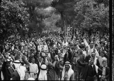 Palestinian men in the village of Abu Ghosh take an oath to fight during the Arab uprising of 1936-39 against British colonial rule and the Zionist project. Photo: Palestinian men in the village of Abu Ghosh take an oath to fight during the Arab uprising of 1936-39 against British colonial rule and the Zionist project.