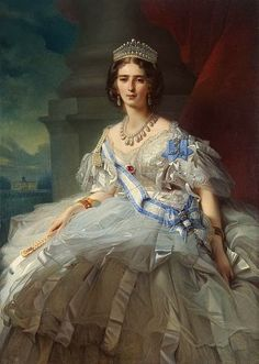 Princess Tatiana Alexandrovna Yusupova, 1858 wearing a ribbon from Empress Maria.