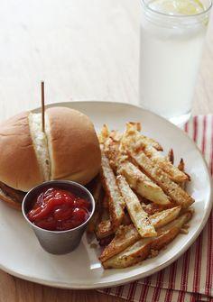 Brown Sugar Baked Fries - A BEAUTIFUL MESS