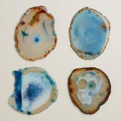 Blue Agate Coasters, Set of 4 | World Market