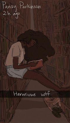 Hermione Granger By Pansy Parkinson Harry Potter Comics, Harry Potter World, Harry Potter Artwork, Harry Potter Drawings, Harry Potter Ships, Harry Potter Marauders, Harry Potter Images, Harry Potter Jokes, Harry Potter Universal