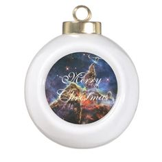 Carina Mystic Mountain in space Ceramic Ball Christmas Ornament