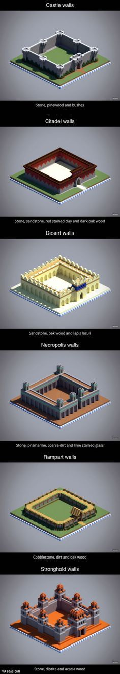 6 unique wall designs in Minecraft