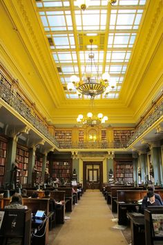Library at the Victoria and Albert Museum, London.  My new study space :)